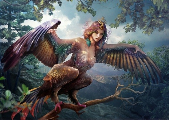 Женщина птица